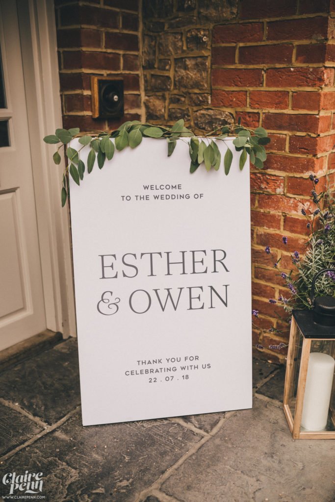 Welcome- Esther&Owenwedding-Claire Penn Photography, Green Fingers
