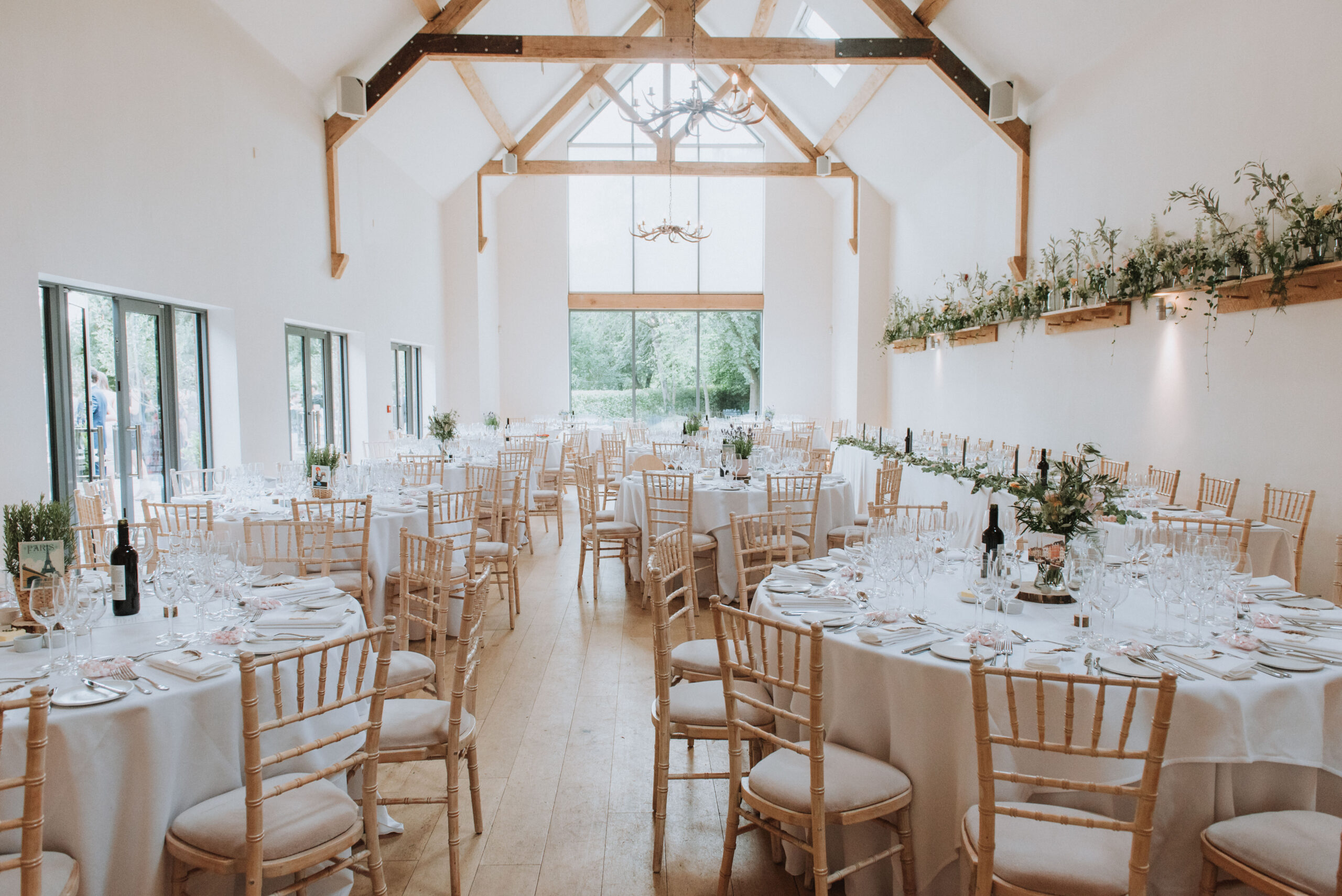 Wedding Breakfast neutral at Millbridge Court