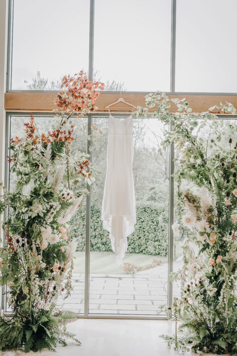 Flower-Archway-at-Millbridge-Court-Micro-Wedding